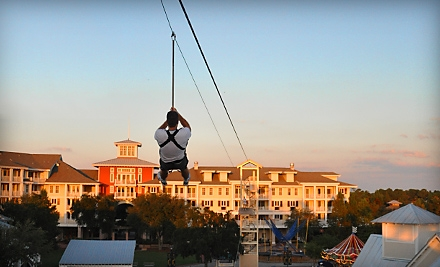 Three Zip Line Rides or One Unlimited Day Pass at Baytowne Adventure Zone
