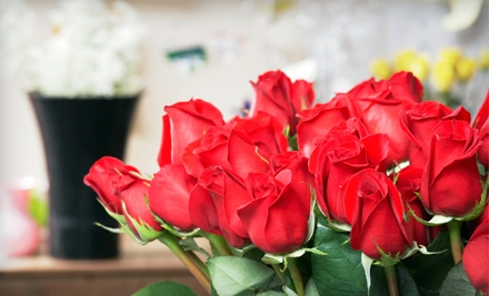 One Dozen Red Roses or Floral Arrangements at Flowers and More