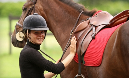 One-Hour Horseback Lesson or a One-Hour Trail Ride for One, Two, Three, or Four People at West End Equestrian Center