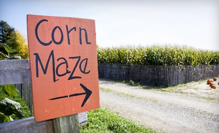 Fresno Corn Maze and Pumpkin Patch Outing for Two Adults and Two Children Wednesday–Friday or on Saturday in Madera
