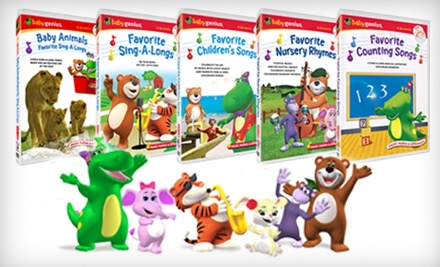 $25 for Five Educational Children's DVDs, Plus Five Bonus CDs, from Baby Genius ($49.75 Value)