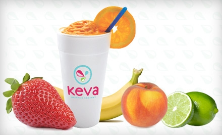 $9 for Four Fresh-Fruit Smoothies at Keva Juice ($19.56 Value)