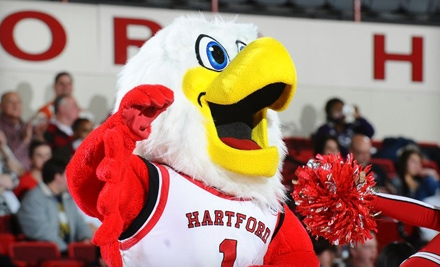 Adult College-Basketball Ticket or Kids' All-Access Junior Hawks Pass to University of Hartford Athletics
