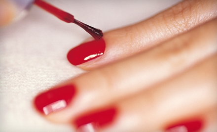 Two Shellac Manicures or a Hair-Coloring Package at Moxie Hair Studio