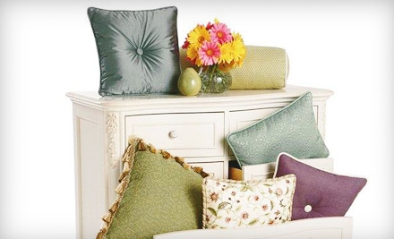 $50 for $100 Worth of Custom Pillows at Allen's Interior