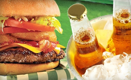 $15 for a Burger Dinner for Two at Beef 'O' Brady's (Up to $30 Value)