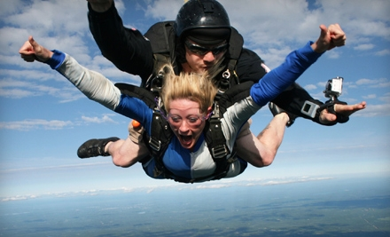 $138 for a Tandem Skydive from Central Maine Skydiving in Pittsfield ($230 Value)