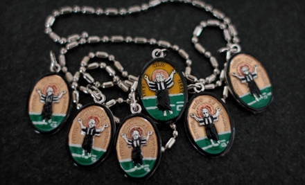One or Two Imported and Hand-Painted Saint Medallions from Saints for Sinners