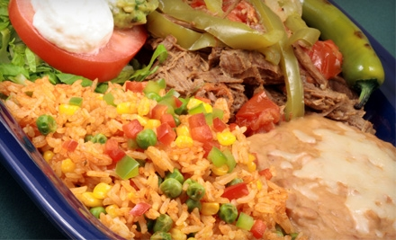 $15 for $30 Worth of Mexican Fare and Drinks at Fajitas Grill