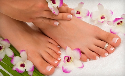 One or Three Mani-Pedis at Above and Beyond Hair and Nail Salon in Leominster (Up to 53% Off)