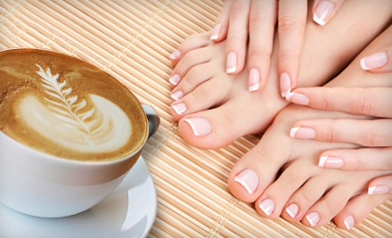 $45 for a Hot-Chocolate Shellac Mani-Pedi at Caruso and Company Nail Spa ($100 Value)