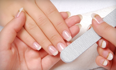 Mani-Pedi Packages at Off Center Salon & Spa (Up to 55% Off). Three Options Available.
