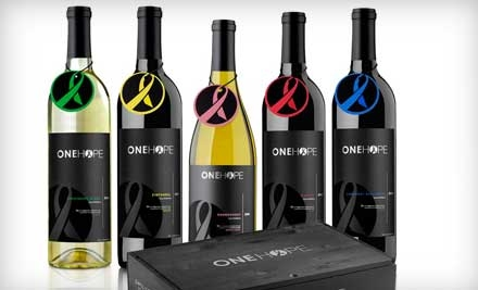 $45 for $100 Worth of Wine Online from OneHope Wine