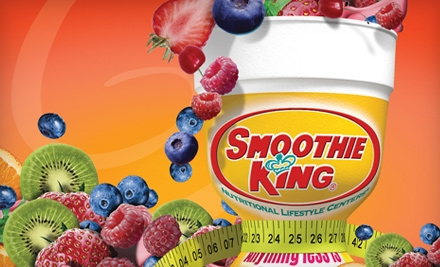 $4 for $8 Worth of Smoothies and Health-Conscious Snacks at Smoothie King
