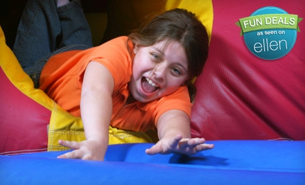 $16 for a Bounce-House Outing with Sodas and Chips for Four at Bounce House (Up to $40 Value)
