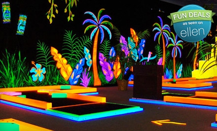Mini-Golf Outing for Two Children or Two Adults at GlowGolf (Half Off)