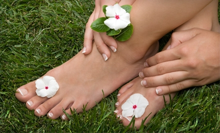 French Acrylic Nails or Mani-Pedi at BienEstar Massage (Up to 69% Off)