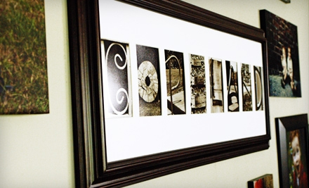 Standard or Deluxe Customized Alphabet Frame from Frame The Alphabet (52% Off)