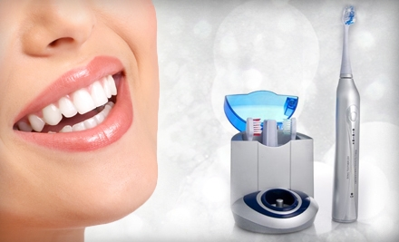 Diamond Elite Ultrasonic Toothbrush or Icing At-Home Whitening Kit from Bling Dental (70% Off)