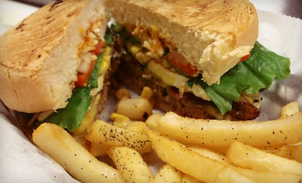 Burger Meal with Beer for Two or Four at MoonCheese Burgers (Up to 54% Off)