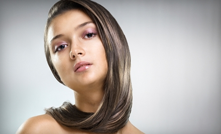 Color Package with Haircut or Brazilian Blowout Package with Haircut at Shannon Leigh's Salon (Up to 62% Off)