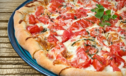 $12 for $25 Worth of Gourmet Pizza and Sides at Frankie's Pizza. Six Locations Available.