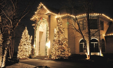 Christmas-Light Installation from Worry Free Lawn Care (Half Off). Three Options Available.