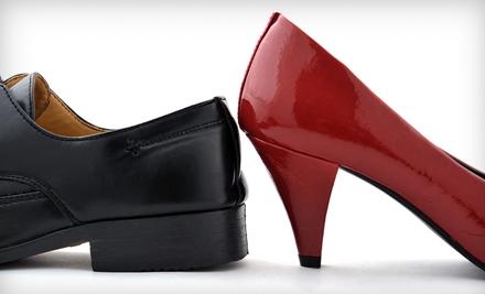 Men's or Women's Heel Repair and Shine or Purse or Handbag Refinish at Fina Boot & Shoe Repair (Up to Half Off)