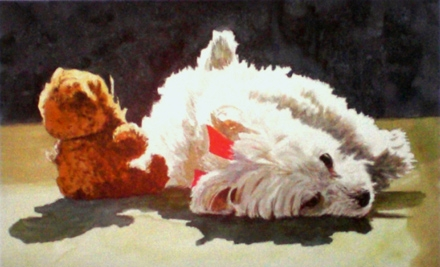 $350 for a Custom Painting of One Adult, Child, or Pet from Steven Jordan Art in Mount Pleasant ($850 Value)