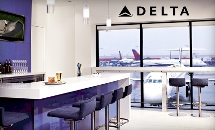 One or Five Visits to Delta Sky Club (Up to 64% Off)