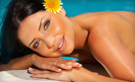 One or Three Custom or Insta-Bronze Sunless Airbrush Tans at Back 2 Body in Prairie Village (Up to 59% Off)