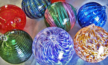$39 for a Glassblowing Workshop to Make Ornament or Ball at Glass Bubble Project ($80 Value). 26 Dates Available.