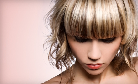 Haircut, Half-Highlights, or Full-Highlights Package at Polished & Pampered in Clovis (Up to 59% Off)