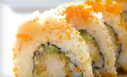 Sushi and Drinks for Dinner or Weekday Lunch at Tiger Sushi 2 (Half Off)