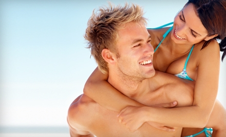 2, 5, or 10 Airbrush Tans or Red-Light Therapy Sessions at Be Tan (Up to 63% Off)