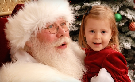 $35 for a Premium Photo Package with Prints, Photo CD, and Gift Frame at Santa at River Park ($70 Value)