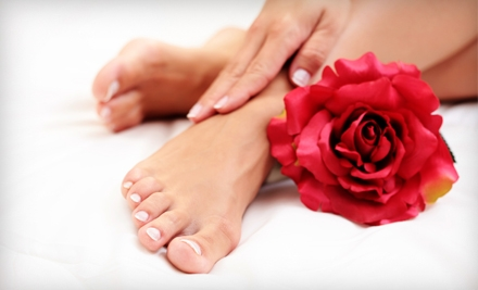 $56 for Deluxe Bio Gel Manicure and Take-Home Nailcare Kit at Bling Nails & Beauty Lounge (Up to $121 Value)