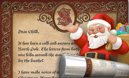 "$9 for a 10""x17"" Personalized Letter from Santa.com ($19.99 Value)"