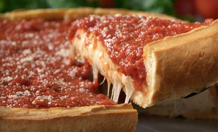 Stuffed Pizza, Pasta, and Sandwiches at Giordano's in Orlando, Lake Buena Vista, and Kissimmee. Two Options Available.