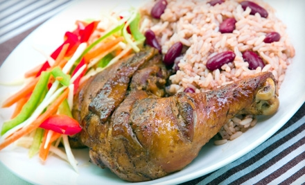 $8 for $16 Worth of Jamaican Dinner Fare and Drinks at Mangoz Restaurant