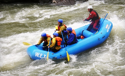 Whitewater-Rafting Tour for Up to Six from W.E.T. River Trips in Lotus (Up to 53% Off). Three Options Available.