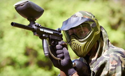 All-Day Paintball Outing with Equipment and 200 Paintballs for One, Two, or Four at Paintball Plex in Laotto (57% Off)