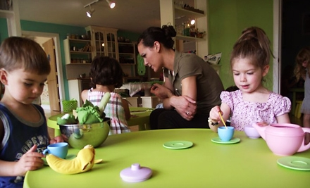 One or Three Kids' Art-Studio Open-Play Visits at The Little Green Tambourine in North Canton (Up to 56% Off)