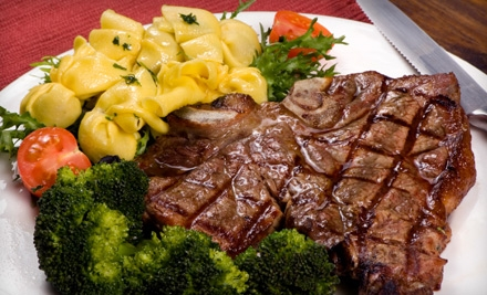 Steak-House Cuisine and Drinks at Cafe Royal (Half Off). Two Options Available.