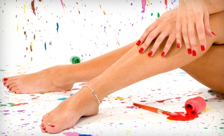 60-Minute Basic Mani-Pedi or 90-Minute Spa Mani-Pedi at Lotus Hair Design (Up to 59% Off)