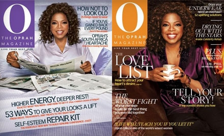 "$10 for a One-Year Subscription to ""O, The Oprah Magazine"" (Up to $28 Value)"