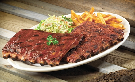 $12 for $25 Worth of Barbecue and Southern Fare at Red Hot & Blue. Six Locations Available.