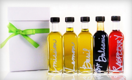 $27 for a Five Mini-Bottle Sampler of Olive Oils and Vinegars from Oliovera ($54 Value)