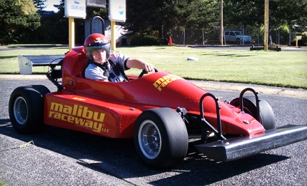 $20 for a Six-Lap Go-Kart Outing for Two Plus Racing Licenses at Malibu Raceway in Beaverton (Up to $41.50 Value)