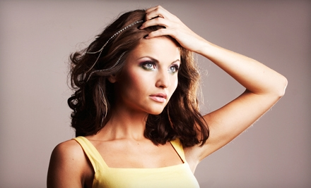 Haircut Package with Style or Two Feather Extensions at True Salon and Spa in Elk Grove (Up to 58% Off)